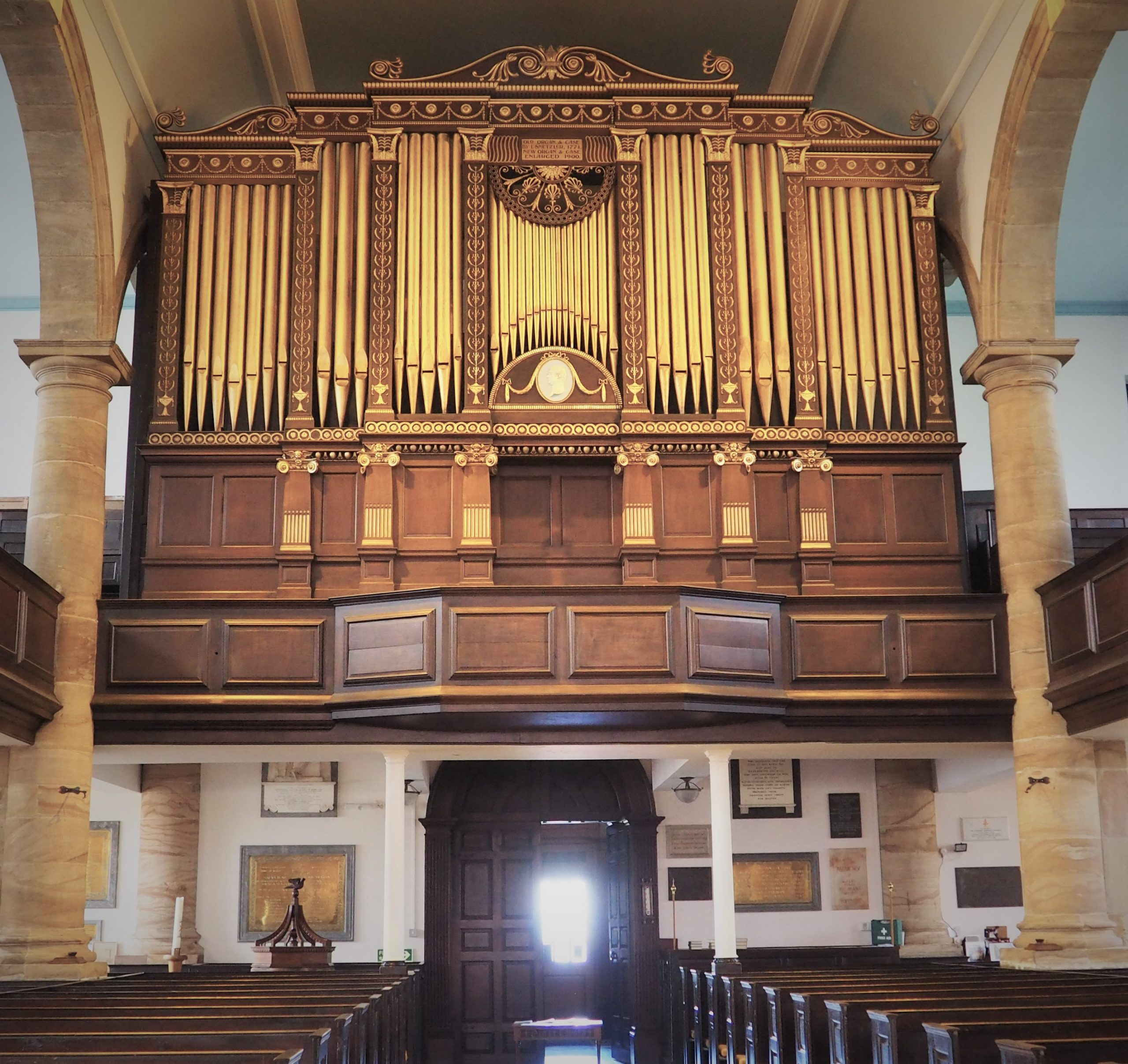 St Modwen's Organ Case